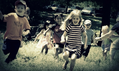 Children Running Photo